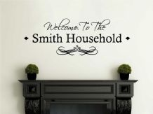 PERSONALISED Family Welcome To Our Home, Modern Wall Sticker, Decal, Transfer